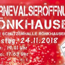 Karnevalseröffnung Rönkhausen am 24.11.2018