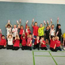 Begeisterte Kinderfussballer bei der JSG Lenhausen/Rönkhausen