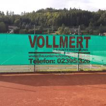 Tennis - Neue Werbeplane