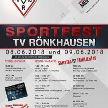 TVR Sportfest am 08. und 09. Juni 2018