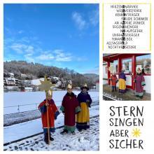 Kinderprinz verteilt mit Geschwistern Sternsinger-Segen