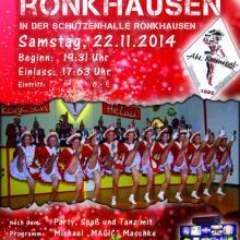 Rönkhausen startet in die 5. Jahreszeit am 22.11.2014 mit der Karnevalseröffnung