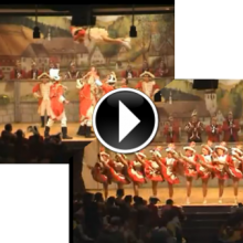 Die Tänze beider Garden von Großsonntag auf Youtube